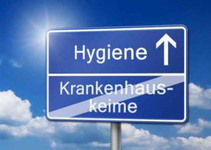 Hygiene Infektion Krankenhauskeime Schild